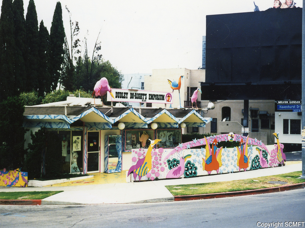 1988 Dudley Do Right Emporium on Sunset Blvd. in West Hollywood