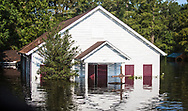 Sept 1, 2017, flooded church in Vidor, Texas. Hurricane Harvey, was downgraded to a tropical storm when it flooded Vidor, Texas and the surrounding area.
