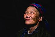 A portrait of a Tsaatan women in the northern province of Khovsgol, Khovsgol, Mongolia
