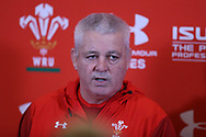 Warren Gatland, the Wales rugby head coach speaks to the press during the Wales rugby team announcement press conference at the Vale Resort Hotel in Hensol, near Cardiff , South Wales on Thursday  16th November 2017.  the team are preparing for their Autumn International series match against Georgia this weekend.   pic by Andrew Orchard