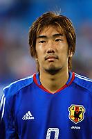 "12/08/04 - THESSALONIKI - GREECE -  - JAPAN OLYMPIC MENS FOOTBALL TEAM -  <br />First match Group B - JAPAN () Vs. PARAGUAY -<br />At the THESSALONIKI ""KAFTATZOGLIO STADIUM"".<br />Min.= '   Japan player N*9 TAKAMATSU Daiki<br />© Gabriel Piko / Piko-Press"