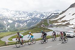 03.07.2013, Fuscher Lacke, Grossglockner Hochalpenstrasse,  AUT, 65. Oesterreich Rundfahrt, 4. Etappe, Matrei in Osttirol - St. Johann Alpendorf, im Bild Gruppe der Verfolger mit Gelben Trikot Kevin Seeldraeyers (BEL, Astana Pro Team) 2er // during the 65 th Tour of Austria, Stage 4, from Matrei in Osttirol to St. Johann Alpendorf, Grossglockner Hochalpenstrasse, Austria on 2013/07/03. EXPA Pictures © 2013, PhotoCredit: EXPA/ Johann Groder