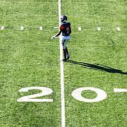 Robert Thomas of the Orange Coast football team playing in the Orange Coast VS Fullerton football match at Orange Coast College in Costa Mesa, Calif., on Saturday November 5, 2016. (© Ella DeGea / Sports Shooter Academy 2016)