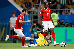 June 17, 2018 - Rostov Do Don, Rússia - ROSTOV DO DON, RO - 17.06.2018: BRAZIL VS SWITZERLAND - Neymar Jr. of Brazil receives a foul during a match between Brazil and Switzerland valid for the first round of group E of the 2018 World Cup, held at the Rostov Arena in Rostov on Don, Russia. (Credit Image: © Marcelo Machado De Melo/Fotoarena via ZUMA Press)