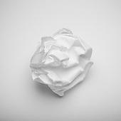 Crumpled cotton rag paper