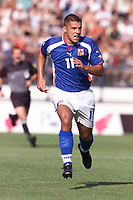 Fotball, Liverpool's new signing Milan Baros in action for the Czech Republic against South Korea in Drnovice.  (Foto: Digitalsport).
