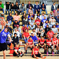 040413       Adron Gardner<br /> <br /> Arizona All-Star and Chinle Wildcat Richard Draper sinks a dunk during the half-time slam dunk contest at Miyamura High School in Gallup Thursday.