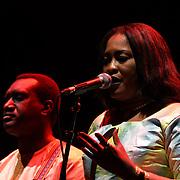 Kanugnon by Oumou Kouyate,Basel Rajoub & Amy Sacko at the Jubilee - Master Musicians of the Aga Khan Music Initiative at the Royal Albert Hall, London, UK on June 20 2018.