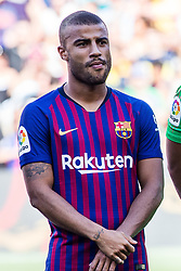 August 15, 2018 - Rafinha Alcantara from Brasil during the Joan Gamper trophy game between FC Barcelona and CA Boca Juniors in Camp Nou Stadium at Barcelona, on 15 of August of 2018, Spain. (Credit Image: © AFP7 via ZUMA Wire)