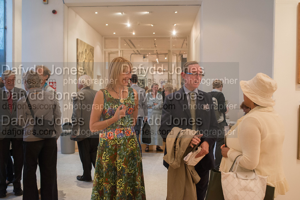 REBECCA HOSSACK; A.N. WILSON, 20/21 British Art Fair. Celebrating its 25 Anniversary. The Royal College of Art . Kensington Gore. London. 12 September 2012.