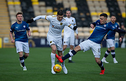 Livingston Lyndon Dykes and Raith Rovers Ross Matthews. Livingston 3 v 1 Raith Rovers, William Hill Scottish Cup played 18/1/2020 at the Livingston home ground, Tony Macaroni Arena.