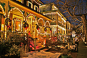 Christmas Decor, Night Lights, Victorian B and Bs, Cape May, NJ