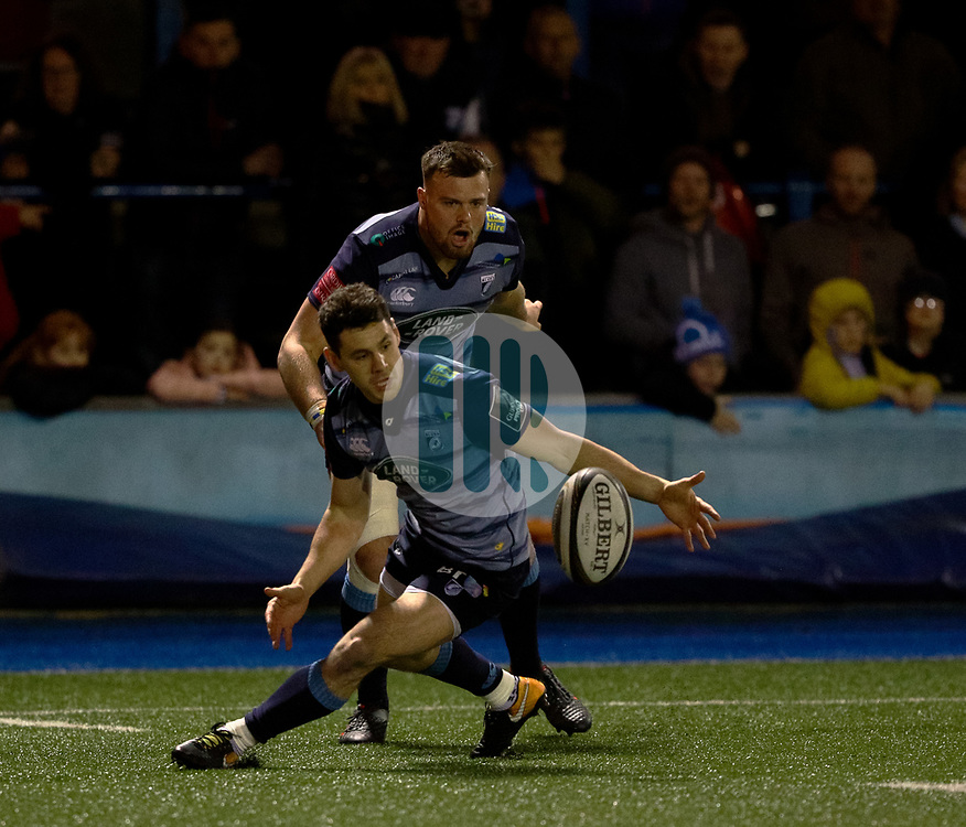 Cardiff Blues' Tomos Williams<br /> <br /> Photographer Simon King/Replay Images<br /> <br /> Guinness PRO14 Round 15 - Cardiff Blues v Munster - Saturday 17th February 2018 - Cardiff Arms Park - Cardiff<br /> <br /> World Copyright © Replay Images . All rights reserved. info@replayimages.co.uk - http://replayimages.co.uk