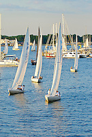 Wednesday night sail boat races, Annapolis, Maryland USA