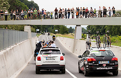 Riders in Celje during 3rd Stage of 25th Tour de Slovenie 2018 cycling race between Slovenske Konjice and Celje (175,7 km), on June 15, 2018 in  Slovenia. Photo by Vid Ponikvar / Sportida