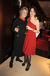 Left to right, GERMAINE GREER and CATHERINE BLYTH at a party to celebrate the publication of Catherine Blyth's book 'The Art of Conversation' held at Ralp Lauren, Bond Street, London on 4th November 2008.