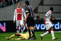 25-04-2010 VOETBAL: AJAX - FEYENOORD: AMSTERDAM<br /> De eerste wedstrijd in de bekerfinale is gewonnen door Ajax met 2-0 / Siem de Jong, Eyong Enoh en karim El Ahmadi<br /> ©2010-WWW.FOTOHOOGENDOORN.NL