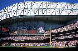 Stock photo of the interior of Minute Maid Park when still named Enron Field during an afternoon baseball game