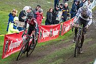 2019-11-03: Cycling: Superprestige: Ruddervoorde: Eli Iserbyt and Mathieu van der Poel batteling in the beginning of the race