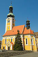 Old Town Square with St Stephan's (Istvan) church, K?szeg Hungary .<br /> <br /> Visit our HUNGARY HISTORIC PLACES PHOTO COLLECTIONS for more photos to download or buy as wall art prints https://funkystock.photoshelter.com/gallery-collection/Pictures-Images-of-Hungary-Photos-of-Hungarian-Historic-Landmark-Sites/C0000Te8AnPgxjRg