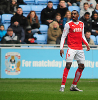 Fleetwood Town's Amari'i Bell<br /> <br /> Photographer Andrew Vaughan/CameraSport<br /> <br /> Football - The Football League Sky Bet League One - Coventry City v Fleetwood Town - Saturday 27th February 2016 - Ricoh Stadium - Coventry   <br /> <br /> © CameraSport - 43 Linden Ave. Countesthorpe. Leicester. England. LE8 5PG - Tel: +44 (0) 116 277 4147 - admin@camerasport.com - www.camerasport.com