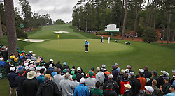 April 7, 2018 - Augusta, GA, USA - Rory Mcllroy on the 10th green during the third round of the Masters Tournament on Saturday, April 7, 2018, at Augusta National Golf Club in Augusta, Ga. (Credit Image: © Jason Getz/TNS via ZUMA Wire)