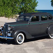 1936 Plymouth P2 on pavement