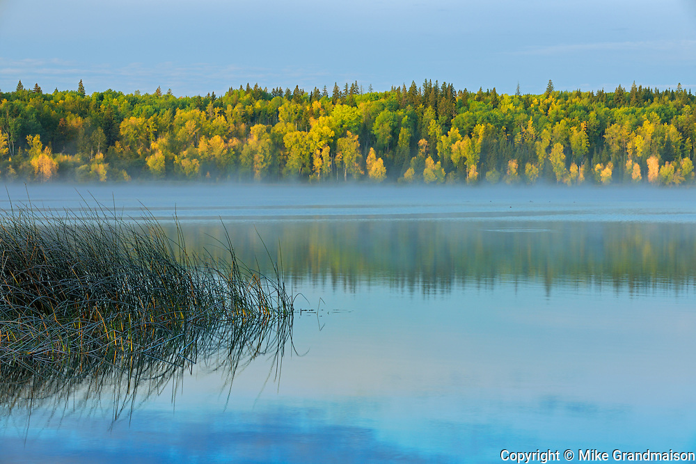 Lawrence Lake in autumn<br /> Lawrence Lake Provincial Park<br /> Alberta<br /> Canada<br /> Lawrence Lake Provincial Park<br /> Alberta<br /> Canada