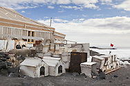 Exterior of Shackleton's Nimrod Hut at Cape Royds, Mc Murdo Sound