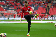Goalkeeper Fraser Forster of England during pre match warm up. FIFA World cup qualifying match, european group F, England v Malta at Wembley Stadium in London on Saturday 8th October 2016.<br /> pic by John Patrick Fletcher, Andrew Orchard sports photography.