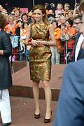 Koningsdag 2014 in Amstelveen, het vieren van de verjaardag van de koning. / Kingsday 2014 in Amstelveen, celebrating the birthday of the King. <br /> <br /> <br /> Op de foto / On the photo:  Prinses Aimee / Princess Aimée