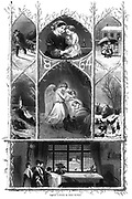 Christmas Nativity scene From Godey's Lady's Book and Magazine, January 1864, Philadelphia, Louis A. Godey, Sarah Josepha Hale,