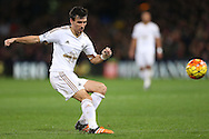 Jack Cork of Swansea City in action. Barclays Premier League match, Crystal Palace v Swansea city at Selhurst Park in London on Monday 28th December 2015.<br /> pic by John Patrick Fletcher, Andrew Orchard sports photography.