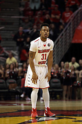 14 February 2016: Javaka Thompson(31) during the Illinois State Redbirds v Bradley Braves at Redbird Arena in Normal Illinois (Photo by Alan Look)