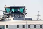 The London City Airport air traffic control Tower is seen empty, in east London, Thursday, March 26, 2020, the airport is closed till at least the end of April due to coronavirus outbreak.  (Photo/Vudi Xhymshiti)