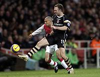 Photo: Olly Greenwood.<br />Arsenal v Charlton Athletic. The Barclays Premiership. 02/01/2007. Charlton's Dennis Rommedahl and Arsenal's Gael Clichy