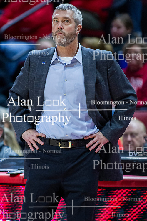 NORMAL, IL - February 08:  Greg Lansing during a college basketball game between the ISU Redbirds and the Indiana State Sycamores on February 08 2020 at Redbird Arena in Normal, IL. (Photo by Alan Look)