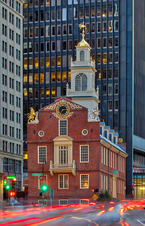 Boston photography showing the historic Old State House along the Freedom Trail in downtown Boston. <br /> <br /> Historic Boston photos are available as museum quality photography prints, canvas prints, acrylic prints or metal prints. Fine art prints may be framed and matted to the individual liking and decorating needs:<br />  <br /> https://juergen-roth.pixels.com/featured/historic-boston-old-state-house-juergen-roth.html<br /> <br /> All historic photos are available for digital and print photography image licensing at www.RothGalleries.com. Please contact me direct with any questions or request.<br /> <br /> Good light and happy photo making!<br /> <br /> My best,<br /> <br /> Juergen<br /> Prints: http://www.rothgalleries.com<br /> Photo Blog: http://whereintheworldisjuergen.blogspot.com<br /> Instagram: https://www.instagram.com/rothgalleries<br /> Twitter: https://twitter.com/naturefineart<br /> Facebook: https://www.facebook.com/naturefineart