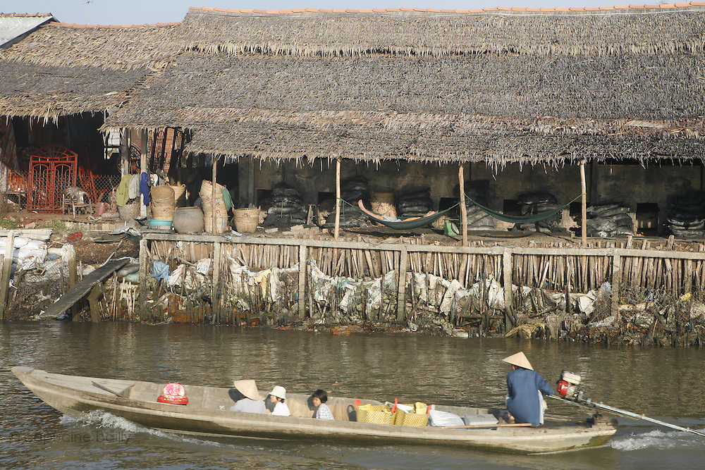 A bank of the Mekong River, Vietnam. .March 18th 2007.