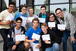 © Licensed to London News Pictures. 16/08/2018. Warwick, UK. Warwick School, A level results. Nine pupils who have all won places at either Cambridge or Oxford. Photo credit: Dave Warren/LNP