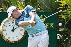 SINGAPORE, Jan. 20, 2019  England's player Matthew Fitzpatrick competes during the last day of the Singapore Open golf tournament at the Sentosa Golf Club in Singapore on Jan 20, 2019. (Credit Image: © Then Chih Wey/Xinhua via ZUMA Wire)