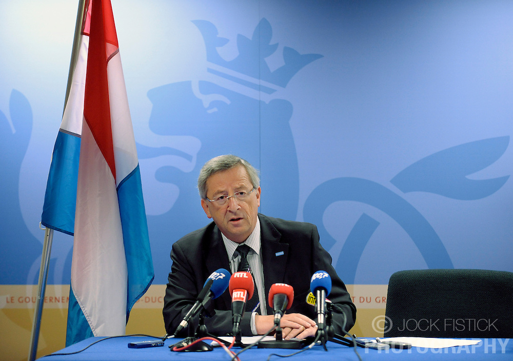 Jean-Claude Juncker, Luxembourg's prime minister, speaks during a news conference following the EU Summit, in Brussels, Friday, June 19, 2009. (Photo © Jock Fistick)