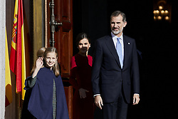 King Felipe VI of Spain, Queen Letizia of Spain and Princess Leonor of Spain attends to 40 Anniversary of Spanish Constitution at Congreso de los Diputados in Madrid, Spain. December 06, 2018. Photo by ALTERPHOTOS/A. Perez Meca/ABACAPRESS.COM