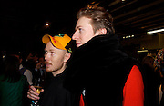 Andrew Davis and Marko Matysik. Party hosted by Isabella Blow in honour of Shaun Leane to celebrate his jewelry collection. Liberty's. London. 8 December 2004. ONE TIME USE ONLY - DO NOT ARCHIVE  © Copyright Photograph by Dafydd Jones 66 Stockwell Park Rd. London SW9 0DA Tel 020 7733 0108 www.dafjones.com