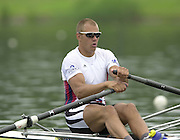 2002 FISA World Cup. Hazewinkel. BEL.       Friday  14/06/2002     .email images@Intersport-images.com.[Mandatory Credit: Peter Spurrier/Intersport Images]  .                                 /06/2002.Rowing    .M1X NOR Olaf Tufte Rowing, FISA WC.Hazenwinkel, BEL