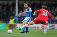Joe Rafferty during the EFL Sky Bet League 1 match between Rochdale and Gillingham at Spotland, Rochdale, England on 23 September 2017. Photo by Daniel Youngs.