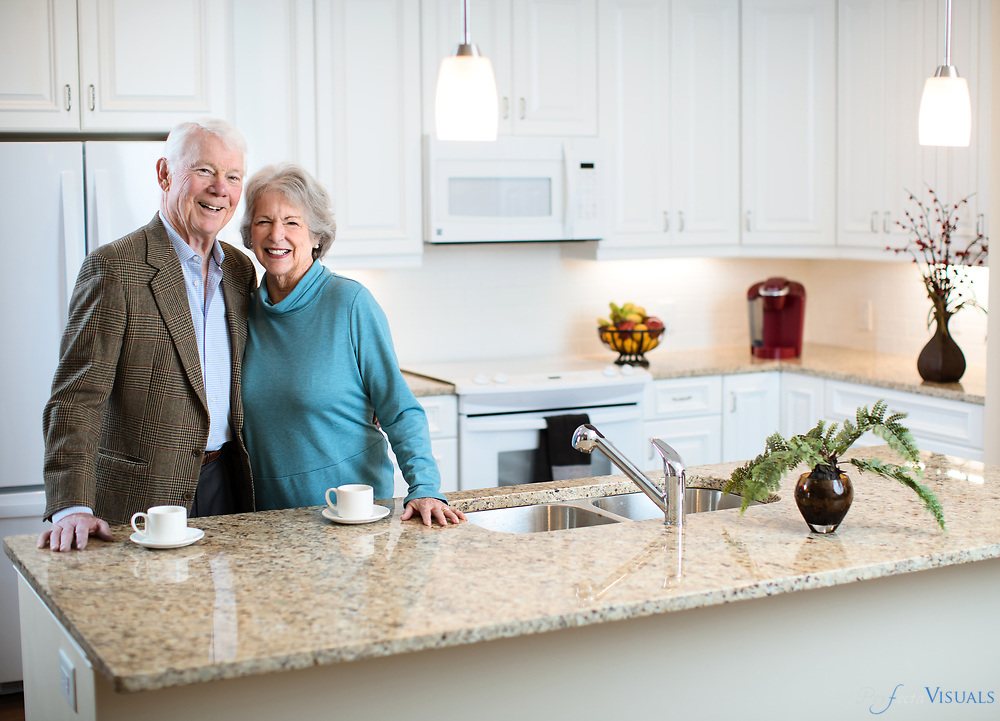 Former realtors Lynn and John black are purchasing an independent living cottage at Abbotswood of Irving Park.<br /> <br /> Photographed, Friday, January 26, 2018, in Greensboro, N.C. JERRY WOLFORD and SCOTT MUTHERSBAUGH / Perfecta Visuals