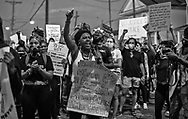 6th night of George  Floyd solidarity protests in New Orleans. Demenstrators marched from Duncan Plaza to the Court House where they protested against the police.