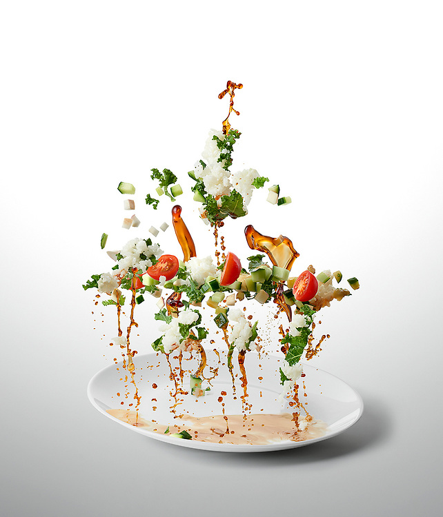 Sushi Rice And Seasonal Veg<br /> - Ten-A-Day is series created for Men's Health magazine promoting healthy recipes. The levitating images shot dynamic approach to food phoography.