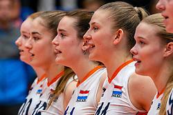 Nicole van de Vosse of Netherlands, Elles Dambrink of Netherlands in action during United States - Netherlands, FIVB U20 Women's World Championship on July 15, 2021 in Rotterdam